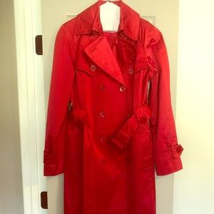Jessica Simpson, Red Trench Long Coat, Large